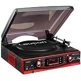 Lauson Cl135 - Tocadiscos para equipo de audio (Amplificador Y Altavoces Integrado, Pantalla Lcd Con Luz De Fondo Azul, Radio Am/Fm)