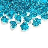 goodymax 50 Kristall-Steine Türkis 25 mm - EIS Deko Streudeko Diamanten Tischdeko
