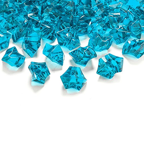 50 Kristall-Steine Türkis 25 mm – Eis Deko Streudeko Diamanten Tischdeko