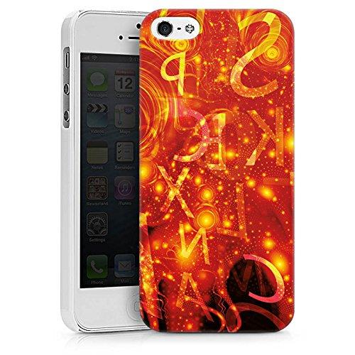 Apple iPhone X Silikon Hülle Case Schutzhülle Muster Abstarkt Glut Hard Case weiß
