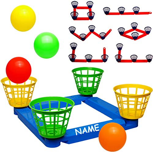alles-meine.de GmbH Wurfspiel - Ballwurfspiel - umbauen + erweitern - inkl. Name - aus Kunststoff / Plastik - incl. Bälle + Fangkörbe - Innen & Außen - Wurfkreuz - Outdoor - Kind..