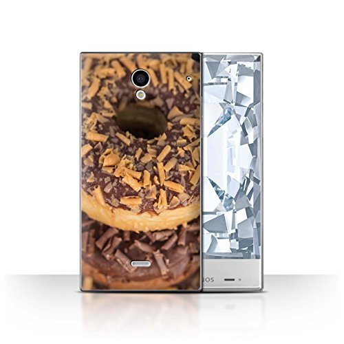 Stuff4 Hülle / Case für Sharp Aquos Crystal/306SH / Toffee Muster / Schmackhafte Donuts - Zucker Schale Crystal