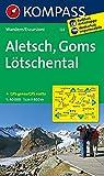 Aletsch - Goms - Lötschental: Wanderkarte. GPS-genau. 1:40000 (KOMPASS-Wanderkarten, Band 122)