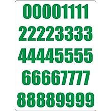 Set 40x autocollant sticker porte voiture moto numero nombre chiffre course vert