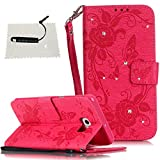 TOCASO kompatibel für Samsung Galaxy S6 Edge Plus Hülle, Replacement for Samsung Galaxy S6 Edge Plus Schutzhülle Leder Schwarz Flip Wallet Case -1