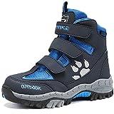 Scarpe da Escursionismo Stivali da Neve Scarpe da Trekking Unisex - Bambini(5 Grigio/Blu,38 EU)