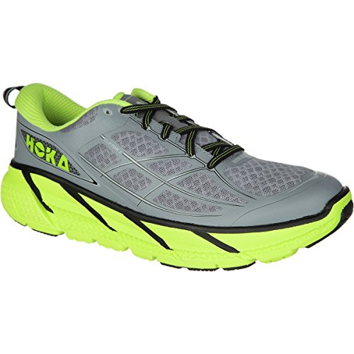 HOKA ONE ONE CLIFTON 2 GRISE ET JAUNE Chaussures de running grey