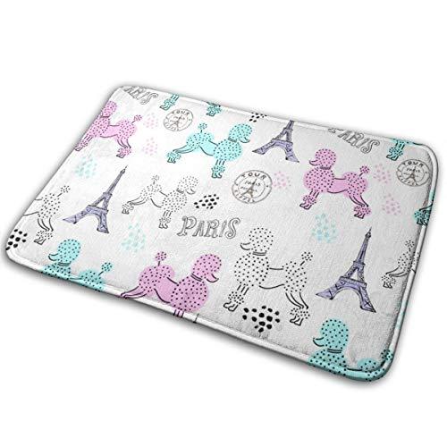 Outdoor Fußmatten? Französisch Pudel Promenade in Paris_578 Badematte Rutschfeste saugfähige Super gemütliche Badezimmer Teppich Dekor Teppich 15,7