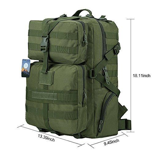 Imagen de ttlife  de senderismo 45 litros, táctica en varios colores, de asalto para excursionismo, montañismo, ciclismo, trekking ,  militar de alta calidad alternativa