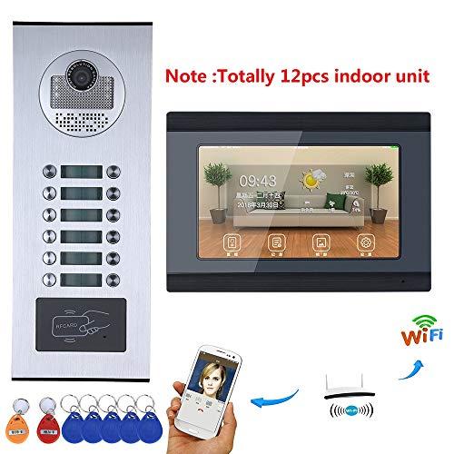 H.L Video Phone Intercom 7inch WiFi Registro Sistema RFID IR-Cut HD 1000TVL...