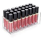 HBlife 24 espacios acrílico brillo de labios pintalabios soporte organizador de maquillaje de almacenamiento caso claro para las mujeres
