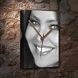 SEASONS ORNELLA MUTI - Canvas Clock (A5 - Signed by the Artist) #js007