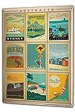 LEotiE SINCE 2004 Blechschild XXL Weltenbummler Australien Sehenswürdigkeiten Kollektion