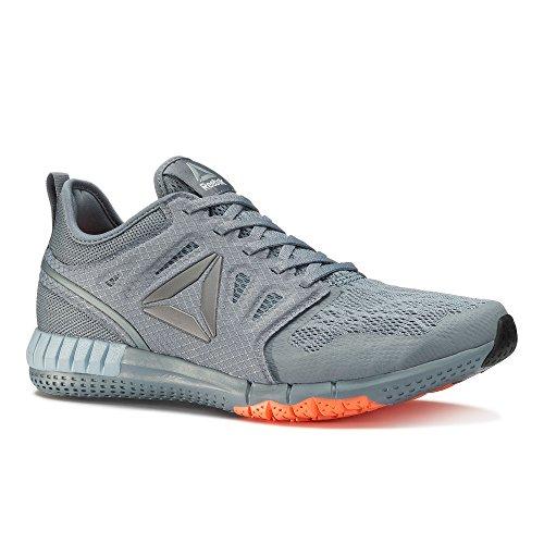 Reebok Zprint 3d We, Chaussures de Course Homme Gris (Asteroid Dust/gable Grey/wild Orange/pew)