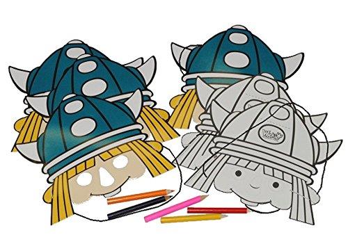13 tlg. Set - Maske Wickie und die starken Männer - aus Papier / Geburtstag Kindergeburtstag Pappmasken (Papier Masken Piraten)