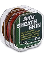 SUFIX trecciato SHEATH SKIN 15lb Brown Shimano