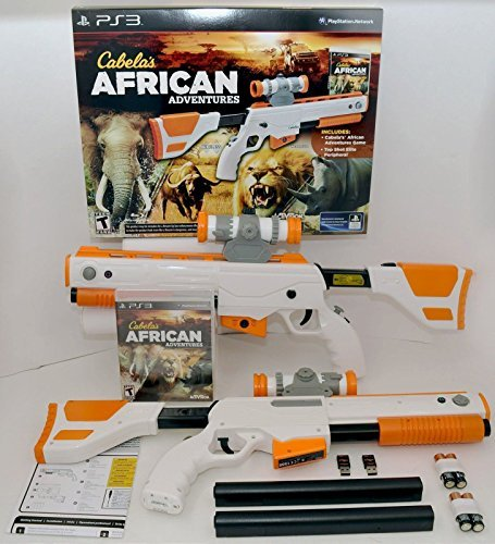 Top Gun Shot Elite (PS3 Cabela's African Adventures Game w/Top Shot Elite Rifle Set 2-GUN BUNDLE by Cabela's)
