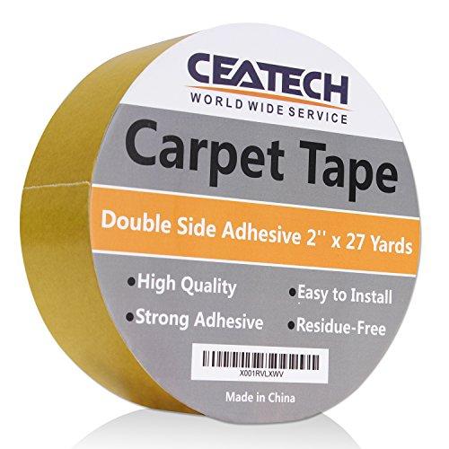 Teppich-Klebeband, doppelseitig, selbstklebend, für Teppiche, Matten und Pads, 5,1 cm x 6,9 m, Rolle strapazierfähig, rutschfest -