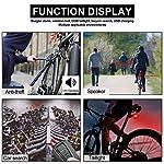 WASAGA-Fanalino-Posteriore-per-Bici-con-Telecomando-per-Allarme-Campanello-per-Bici-e-fanalino-Posteriore-COB-fanale-Posteriore-Ricaricabile-Impermeabile-Anti-thef-Cinghie-in-Silicone-per-Bici