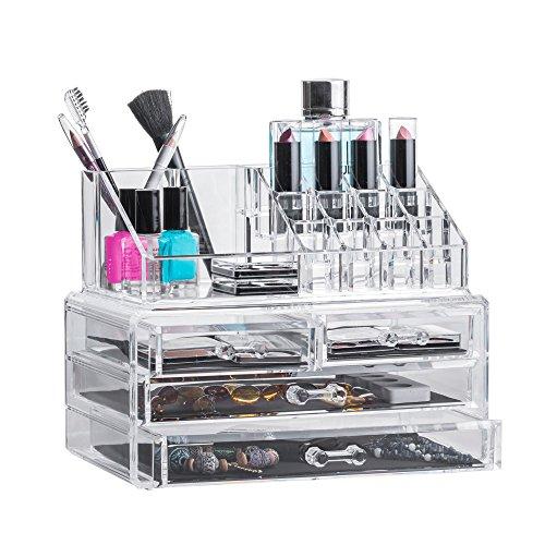 Solly's ANNA Aufbewahrungsbox für Make Up und Schmuck | Kosmetik Organizer aus Acryl | Schmuckkästchen | Schubladenbox Schminke (Acryl Schublade Make-up)