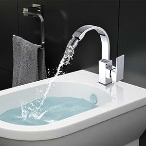 Msc6013s miscelatore rubinetto monocomando da cucina bagno stile moderno minimal arredamento - Miscelatore cucina economico ...