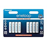 Panasonic Eneloop Lot de 8 piles rechargeables LR06-AA 1900 mAh Blanc