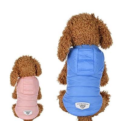 Igemy Haustier Kleider Winter Warm Gepolsterte Verdickung Weste Mantel Hund Kostüme