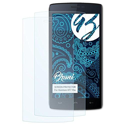 Bruni Schutzfolie kompatibel mit Homtom HT7 Pro Folie, glasklare Bildschirmschutzfolie (2X)