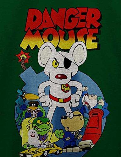 Danger Mouse T-Shirt Dunkel Grün
