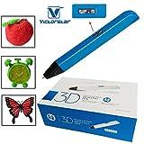 VICTORSTAR  3D-Stift - RP800A mit OLED-Display / Version 4 Generation Macht 4 Größere Verbesserungen Besser Operationen / 3D-Stift + Netzteil + ABS Filamente + Manul + Schraubendreher / Erstaunliches Geschenk für Kinder (blau)