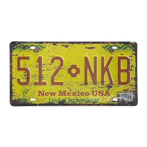 66Retro New Mexico 512-NKB, Land of Enchantment, Embossed Vintage Tin