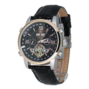Reloj Constantin Durmont Calendar de caballero automático con correa de piel negra - sumergible a 30 metros de Constantin Durmont