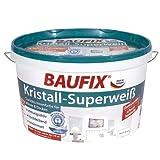 BAUFIX Kristall-Superweiß SeidenMatt 10 Liter