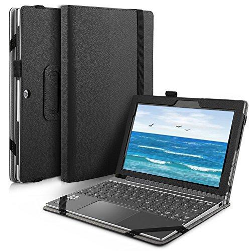 Lenovo Miix 320 hülle, IVSO hochwertiges PU Leder Etui hülle Tasche Case - mit Standfunktion, super 360° Anti-Wrestling, ist für Lenovo Miix 320 Tablet-PC perfekt geeignet (Für Lenovo Miix 320, Schwarz)