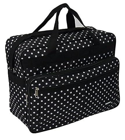 Super léger 2roues valise cabine Valise de vacances Multicolore Noir à pois 50x40x20cm Cabin Bag