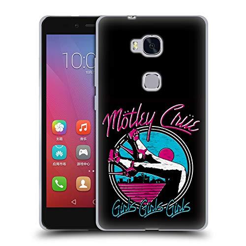 Head Case Designs Offizielle Motley Crue Girls Schuhe Logos Soft Gel Huelle kompatibel mit Huawei Honor 5X / GR5