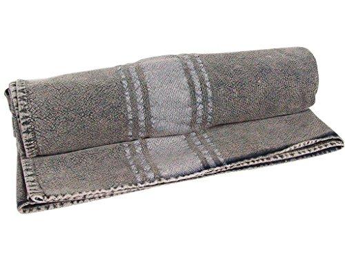 Vent du SUD Drap de Bain ou Serviette de Plage en Coton 90x160 cm Elvis Cendre