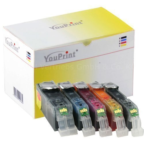 30 kompatible Druckerpatronen für Canon - PGI-525PGBK, CLI-526C, -526M, -526Y, -526BK