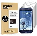 iVoler [4 Pack] Vetro Temperato Compatibile con Samsung Galaxy S3 / S3 Neo [Garanzia a Vita], Pellicola Protettiva, Protezione per Schermo