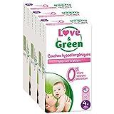 Love & Green ökologische Windeln, Größe 4+ (9-20 kg), 3er Pack (3 x 42 Stück) Monatspackung