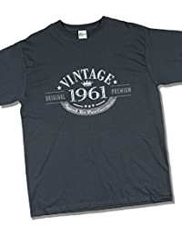 1961 Vintage Year - Aged to Perfection - 56 Ans Anniversaire T-Shirt pour Homme