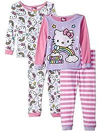 Hello Kitty Toddler Girls' 4-Piece Pajama Set
