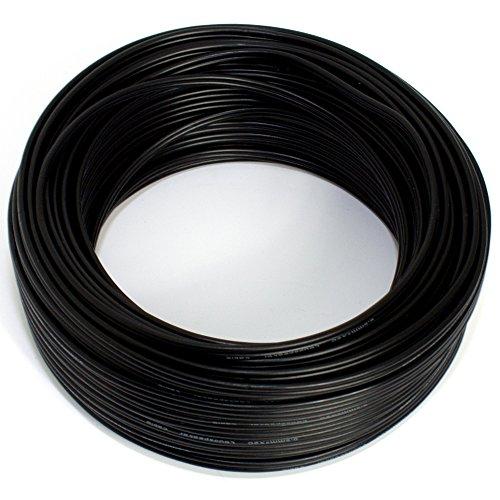 Lautsprecherkabel 2x0,50mm2 - 25m - schwarz - CCA - Audiokabel - Boxenkabel