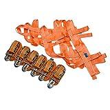 Ladungssicherungsnetz + 6 Spanngurte mit Karabinerhaken im Set, 1000 daN