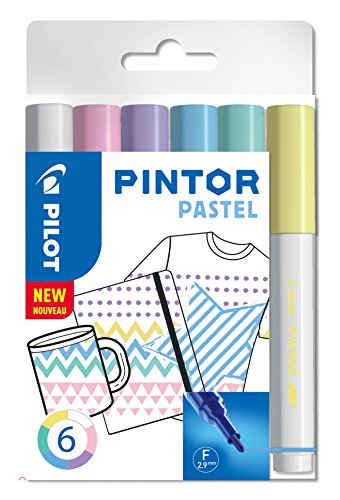 Pilot Pintor Fine Line Bullet Paint Marker Fein verschiedene Pastellfarben