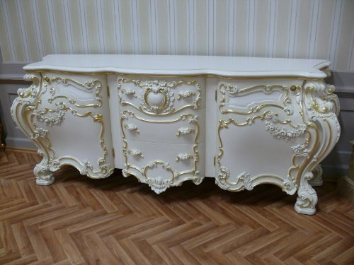 Barock Anrichte Antik Stil - Stil Sideboard Kommode VenetianBarock Rokoko Vp9976