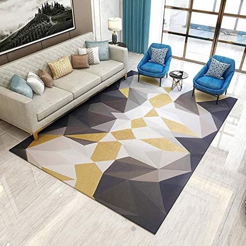 Home designer tappeto contemporaneo geometrico multi-funzionale grigio soggiorno divano camera da letto tappeti stile nordico qualità moderno design squadrato intagliato a mano morbido (160x230cm)