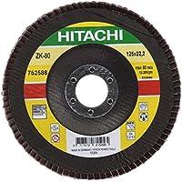 Hitachi - 752588 - Disco láminas abrasivas 125x22,2 mm grano 80 INOX/METAL (venta x10 ud)