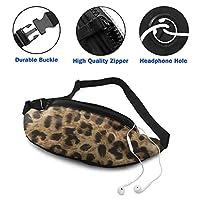 D.ADcustom Leopard Unisex Casual Waist Bag Sport Waist Packs