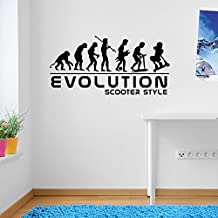 Stunt Scooters Sports Evolution Scotter Style Wall Decorations Window Stickers Wall Decor Wall Stickers Wall Art Wall Decals Stickers Wall Decal Decals Mural Décor Diy Deco Removable Wall Decals Colorful Stickers
